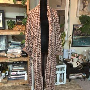 Retro vintage robe duster kimono jacket